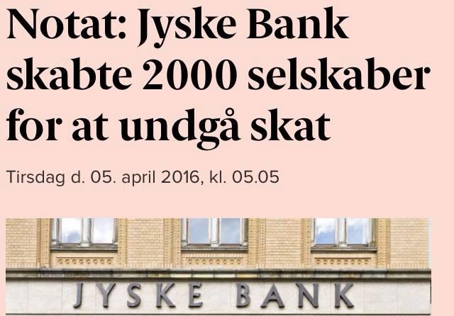 Jyske Bank skaber 2000 selskaber for at undgå skat