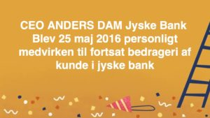 "ADVARSEL MOD STOR DANSK BANK. Når man som kunder i jyskebank åbenlyst bliver bedraget, og Jyske Banks direktion ved det. Men i ond tro lader jyske bank svindle deres kunder, ved hjælp af svig falsk. Hvad kan man så gøre når, jyske bank og deres løgnagtige advokater i Lund Elmer Sandager nægter at kommunikerer. Vi kan kun ADVARER DIG I MOD AT STOLE PÅ JYSKE BANK. DA JYSKE BANK BEVIST LYVER OVERFOR OS KUNDER. Jyske bank indbydes igen til dialog møde, for at gennemgå sagen mod jyske bank for svindlen. :-) I DANMARK STØTTER STATEN BANKERNE DER SOM TAK BEDRAGER DERES KUNDER VED SVIG OG FALSK :-) :-) JYSKE BANK OPFORDRES IGEN TIL PÅ JYSKE BANK TV, AT DULERER ER JYSKE BANK BEDRAGERISK ELLER HÆDERLIG Tør CEO Anders Dam tage opfordring om en offenlig debat Således vi kan gå vores sag om svindel i jyske bank mod familien igennem. :-) Det er handler om bedrageri svindel svig falsk mandatsvig dokumentfalsk manipulation udnyttelse mm. kort sagt Det handler om jyske bank :-) Familien som jyske bank her bedraget i en periode på 9 år. Heraf har jyske bank været bevist om at svindlen var opdaget senest i maj 2016 men CEO Anders Dam valgte at fortsætte bedrageri, og nægte familien dialog. :-) :-) Er lige oplyst af en som ringede, at jyske bank har modtaget 4 bankpakker. Og at flere af de danske banker er statstøttet. :-) :-) Måske derfor lader den Danske Stat Jyske bank overtræde love og regler på stribe. Det er jo åbenbart de danske banker det styre staten, så national banken ingen indflydelse har på dansk økonomi. :-) Hvem vil tage sagen op om de DANSKE BANKER DER SVINDLER. :-) :-) :-) Her er lidt billeder på div. Sprog Hvad ville du gøre når du opdager JYSKE BANK laver bedrageri Og banken nægter at svare dig :-) Шта бисте урадили када открију ЈИСКЕ БАНК прави превару И банка одбија да вам одговори :-) Financial help for lawyer search In the case against Danish bank jyske bank for fraud. :-) Indsæt dit bidrag her. Insert your contribution here Reg. 5479 konto nr. 0004563376 IBAN-kontonummer Account DK0854790004563376 ---------------------- The Danish Bank, deceiving the customer with false loans, and by fraud raises the JYSKE BANK interest rates for a loan that does not exist. :-( Jyske Bank refuses dialogue with the customer, while jyske bank just continue with the fraud crime. FRAUD as Jyske Bank's management CEO Anders Dam from the customer is informed about may 25, 2016 ---------------------- In Danish See more at www.banknyt.dk Pictures of the little annex, the evidence of fraud: https://facebook.com/pg/JyskeBank.dk/photos/?tab=albums&ref=page_internal&mt_nav=1 ------------------------ Small family struggling against Jyske Bank. Jyske Bank has in the 9 years lied to the family about the fake loans, at the 4.328.000 dkkr. To be able to take 2.5 million dkkr in interest from the customer, for a loan the royal bank By not availablenot, but the bank lying about. Jyske bank refuses dialogue. When jyske bank only wants to answer the of the bank's clients who discovers that jyske bank is doing fraud and false in the court. For jyske bank, it is about the law Must jyske bank low fraud and a fake. It wants the Bank the court the words for. Therefore, seeking the family, the financial support to the attorney. ----------------------- Want ATP pension to support jyske bank with the fraud of customers at jyske bank Talking about COUNTERFEITING, EXPLOITATION, FRAUD, breach of MANDATE. violating all the rules and good practice, to be able to yield, fraud < < to deceive the customer at jyske bank And allows ATP PFA, PENSAM and other shareholders jyske bank in now 9 years Has deceived his customer in jyske bank using fake loans, in order to be able to manipulate the client, who was ill after a stroke The customer who did not die and or should have ATP paid to his wife Is småsur over the management of the jyske bank refuses to answer the customer ------------------------ The Danish bank. Jyske Bank Continue fraud by the customer on the 9'end of the year. Although jyske bank CEO Anders Dam. At least 2 years have had the knowledge that the bank is doing fraud. Jyske Bank raises the interest rates of the loans, which do not exist, but as jyske bank, dishonorable and dishonest continues lying in order to cheat the bank's customers. Jyske Bank refuses to stop the fraud of the bank's customer. :-) :-) Die Dänische bank. Betriebe Der JYSKE Bank Weiter Betrug durch den Kunden auf der 9'Ende des Jahres. Obwohl Betriebe der JYSKE bank-CEO Anders Dam Mindestens 2 Jahre haben die Kenntnis, dass die bank tun Betrug. Betriebe der JYSKE bank erhöht die Zinsen der Kredite, die nicht existieren, sondern als Betriebe der JYSKE bank, unehrenhaft und unehrlich ist, weiter zu Lügen, um zu betrügen die Kunden der bank. Betriebe der JYSKE Bank sich weigert zu stoppen, Betrug von Kunden der bank. :-) :-) את דנית הבנק. Jyske Bank המשך הונאה על ידי הלקוח ב-9'סוף השנה. למרות jyske מנכ "" ל הבנק אנדרס הסכר לפחות 2 שנים יש לו את הידע, כי הבנק עושה הונאה. jyske הבנק מעלה את הריבית של הלוואות אשר לא קיימים, אבל כפי jyske bank, מבישה ולא ישר ממשיכה לשקר על מנת לרמות לקוחות הבנק. Jyske הבנק מסרב להפסיק את ההונאה של לקוחות הבנק :-) :-) La banca danese. Jyske Bank Continua frode da parte del cliente il 9'fine dell'anno. Anche se jyske bank CEO Anders Diga Almeno 2 anni di avere avuto conoscenza che la banca sta facendo la frode. jyske bank alza i tassi di interesse dei prestiti che non esistono, ma come jyske bank, disonorevole e disonesti continua distesa per imbrogliare i clienti della banca. Jyske Bank si rifiuta di interrompere la frode dei clienti della banca. :-) :-) デンマークの銀行です。 Jyske銀行 続き 詐欺により、お客様の9'末ます。 がjyske銀行のCEO Andersダム 少なくとも2年間の知識、日本銀行では詐欺です。 jyske銀行の金利の貸出はありませんが、jyske銀行dishonorable、不正の続きの添い寝のためのチ日本銀行のお客様です。 Jyske銀行の拒否を停止する不正の日本銀行のお客様です。 :-) :-) Duński bank. Jyske Bank Dalej oszustwa ze strony klientów na 9'koniec roku. Chociaż dyrektor generalny jyske bank dam Anders Co najmniej 2 lata wiedza o tym, że bank zajmuje się oszustwem. Jyske bank podnosi oprocentowanie, które nie istnieją, ale jak джиске bank jest w porządku i nie fair nadal kłamie, aby oszukiwać klientów banku. Jyske Bank odmawia zaprzestania oszukiwanie klientów banku. :-) :-) Датский банк. Джиске Банк Далее мошенничества со стороны клиентов на 9'конец года. Хотя генеральный директор джиске банк дам Андерс Не менее 2 лет знание о том, что банк занимается мошенничеством. джиске банк поднимает процентные ставки по кредитам, которые не существуют, но как джиске банк, непорядочно и нечестно по-прежнему лжет, чтобы обманывать клиентов банка. Джиске Банк отказывается прекратить обман клиентов банка. :-) :-) El banco danés. Jyske Bank Continuar el fraude por el cliente en la 9'de fin de año. Aunque jyske bank CEO Anders Presa Al menos 2 años han tenido el conocimiento de que el banco está haciendo fraude. jyske bank eleva las tasas de interés de los préstamos que no existen, pero como jyske bank, deshonrosa y deshonesto sigue mintiendo con el fin de engañar a los clientes del banco. Jyske Bank se niega a detener el fraude de los clientes del banco. :-) :-) คนเดนมาร์กธนาคาร. Jyske ธนาคาร ทำต่อไป หลอกลโดยที่ลูกค้าที่ 9'สิ้นปี. ถึงแม้ว่า jyske ธนาคารของซีอีโอแอนเดอร์เด อย่างน้อย 2 ปีแล้วคนก็มีความรู้ที่ธนาคารกำลังทำอะไรเลยฐานต้มตุ๋นหลอกลวง jyske ธนาคารต่างหาที่สนใจการเต้นของเงินกู้นัซึ่งไม่มีตัวตนแต่ jyske ธนาคาร dishonorable และไม่ซื่อสัตย์ต่อไปโกหกเพื่อที่จะโกรธนาคารลูกค้าค่ะ Jyske ธนาคารปฏิเสธที่จะหยุดคนหลอกลของธนาคารลูกค้าค่ะ :-) :-) Danimarka Bankası. Jyske Bank Devam bu yıl 9' Müşteri tarafından dolandırıcılık;end. Ancak jyske bank CEO'SU Anders Dam En az 2 yıl banka dolandırıcılığı yaptığı bilgisi vardı. jyske bank bulunmayan kredilerin faiz oranlarını artırdı, ama jyske bankası olarak, onursuz ve sahtekar banka müşterileri aldatmak için yalan söylemeye devam ediyor. Jyske Bank müşterilerinin dolandırıcılık durdurmak için reddediyor. :-) :-) La banque danoise. Jyske Bank Continuer la fraude par le client sur le 9'à la fin de l'année. Bien que jyske bank chef de la direction Anders Barrage Au moins 2 ans ont eu la connaissance que la banque est en train de faire de la fraude. jyske bank soulève le taux d'intérêt des prêts qui n'existent pas, mais que jyske bank, déshonorante et malhonnête continue de mentir dans le but de tromper les clients de la banque. Jyske Bank refuse de cesser la fraude de la les clients de la banque. :-) :-) Den danske bank. Jyske Bank Fortætter svindel af kunde på 9'ende år. Selv om jyske bank CEO Anders Dam I mindst 2 år har haft viden om at banken laver bedrageri. jyske bank hæver renter af lån der ikke findes, men som jyske bank, uhæderligt og uærligt fortsætter, lyver om for at snyde bankens kunder. Jyske Bank nægter at stoppe svindlen af bankens kunder. :-) :-) Så hvad kan vi gøre, udover at blive røvet af jyske bank med falsk lån. :-) :-) Se mere på www.banknyt.dk Lille familie kæmper mod Jyske Bank. :-) :-) Jyske Bank har i 9 år løjet over for familien om falsk lån, på 4.328.000 dkkr. For at kunne tage 2.5 milioner kroner i rente fra kunden, for et lån jyske bank ved ikke findes, men bevist lyver om. Jyske bank nægter dialog. Da jyske bank kun ønsker at svare de af bankens kunder som opdager at jyske bank laver svig og falsk i retten. For jyske bank handler det om jura Må jyske bank lave svig og falsk. Det ønsker den store Danske Bank rettens ord for. Derfor søger familien øknomisk støtte til advokat. Derfor søger familien øknomisk støtte til advokat. :-) Støtte søges til sag, mod stor Dansk Bank som lave svig mod kunder. Indsæt dit bidrag her. Reg. 5479 konto nr. 0004563376 IBAN-kontonummer DK0854790004563376 swift NYKBDKKK Støtten buges til advokat regninger Hjælp til at stoppe svig i jyske bank mod bankens kunder. ------- DA Hvad ville du gøre når du opdager JYSKE BANK laver bedrageri Og banken nægter at svare dig VI Bạn sẽ làm gì khi phát hiện Ngân hàng JYSKE đang gian lận Và ngân hàng từ chối trả lời bạn -- HU Mit tehetsz, ha ? A JYSKE BANK csalás És a bank megtagadja a választ -- UK Що б ви зробили, коли виявите JYSKE BANK здійснює шахрайство І банк відмовляється відповідати тобі -- DE Was würdest du tun, wenn du es entdeckst? JYSKE BANK macht Betrug Und die Bank weigert sich, dir zu antworten -- TR Keşfettiğinde ne yapardın JYSKE BANK dolandırıcılık yapıyor Ve banka size cevap vermeyi reddetti -- TH คุณจะทำอะไรเมื่อค้นพบ ธนาคาร JYSKE กำลังฉ้อโกง และธนาคารปฏิเสธที่จะตอบคุณ -- SV Vad skulle du göra när du upptäckte JYSKE BANK gör bedrägeri Och banken vägrar att svara dig -- ES ¿Qué harías cuando descubras? JYSKE BANK está haciendo fraude Y el banco se niega a responderte -- SR Шта бисте урадили када открију ЈИСКЕ БАНК прави превару И банка одбија да вам одговори -- Что бы вы сделали, когда обнаружили JYSKE BANK делает мошенничество И банк отказывается отвечать вам -- RO Ce ai face când descoperi JYSKE BANK face fraudă Și banca refuză să vă răspundă -- PT O que você faria quando descobrisse JYSKE BANK está fazendo fraude E o banco se recusa a responder-lhe -- PL Co byś zrobił, gdybyś odkrył? JYSKE BANK dokonuje oszustw A bank nie chce ci odpowiedzieć -- NO Hva ville du gjøre når du oppdager JYSKE BANK gjør svindel Og banken nekter å svare deg -- MS Apa yang akan anda lakukan apabila anda menemui JYSKE BANK membuat penipuan Dan bank itu enggan menjawab anda -- LV Ko jūs darītu, kad atklājat JYSKE BANK veic krāpšanu Un banka atsakās tev atbildēt -- KO 당신이 발견했을 때 당신은 무엇을 할 것입니까? JYSKE 은행은 사기를 만들고 있습니다. 그리고 은행이 당신을 대답하기를 거절합니다. -- ZH-TW 當你發現時你會做什麼 JYSKE BANK正在詐騙 銀行拒絕回答你 -- ZH-CN 当你发现时你会做什么 JYSKE BANK正在诈骗 银行拒绝回答你 -- JA あなたが発見したときにあなたは何をしますか? JYSKE銀行は詐欺をしています そして、銀行はあなたに答えることを拒否する -- IT Cosa faresti quando scoprirai JYSKE BANK sta facendo frodi E la banca si rifiuta di rispondervi -- IS Hvað myndir þú gera þegar þú uppgötvar JYSKE BANK er að gera svik Og bankinn neitar að svara þér -- ID Apa yang akan Anda lakukan ketika Anda temukan JYSKE BANK melakukan penipuan Dan bank menolak untuk menjawab Anda -- NL Wat zou je doen als je ontdekt? JYSKE BANK maakt fraude En de bank weigert u te antwoorden -- IW מה היית עושה כשאתה מגלה בנק JYSKE עושה הונאה והבנק מסרב לענות לך -- FI Mitä tekisit, kun huomaat JYSKE BANK tekee petoksia Ja pankki kieltäytyy vastaamasta sinua -- ET Mida te teeksite, kui avastad JYSKE BANK teeb pettuse Ja pank keeldub sulle vastamast -- AR ماذا ستفعل عندما تكتشف JYSKE BANK هو الاحتيال والبنك يرفض الرد عليك -- FR Que feriez-vous quand vous découvrirez JYSKE BANK fait de la fraude Et la banque refuse de vous répondre -- I have a dream Grand client de fraude bancaire danois -- JYSKE BANK"