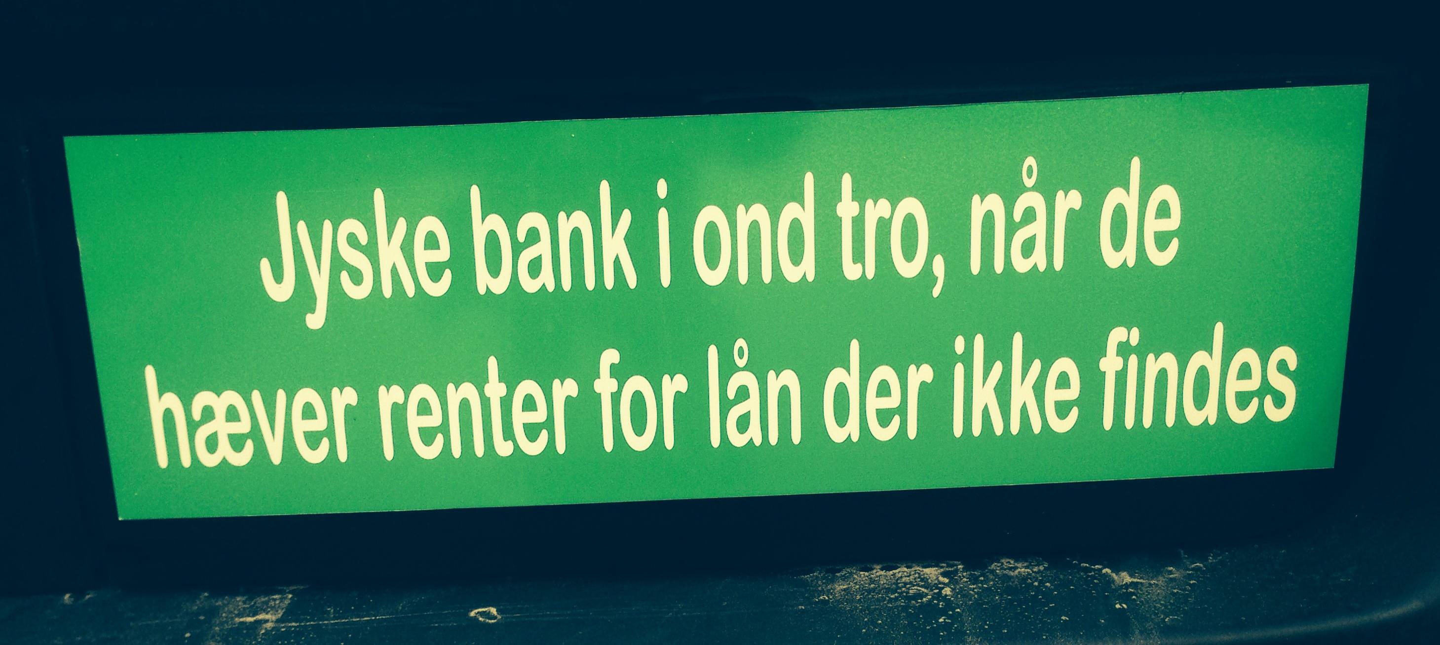 Den danske bank nærmer beskrevet den bedrageriske svindeler  bank, jyske bank i ond tro når banken bevist bedrager kunder