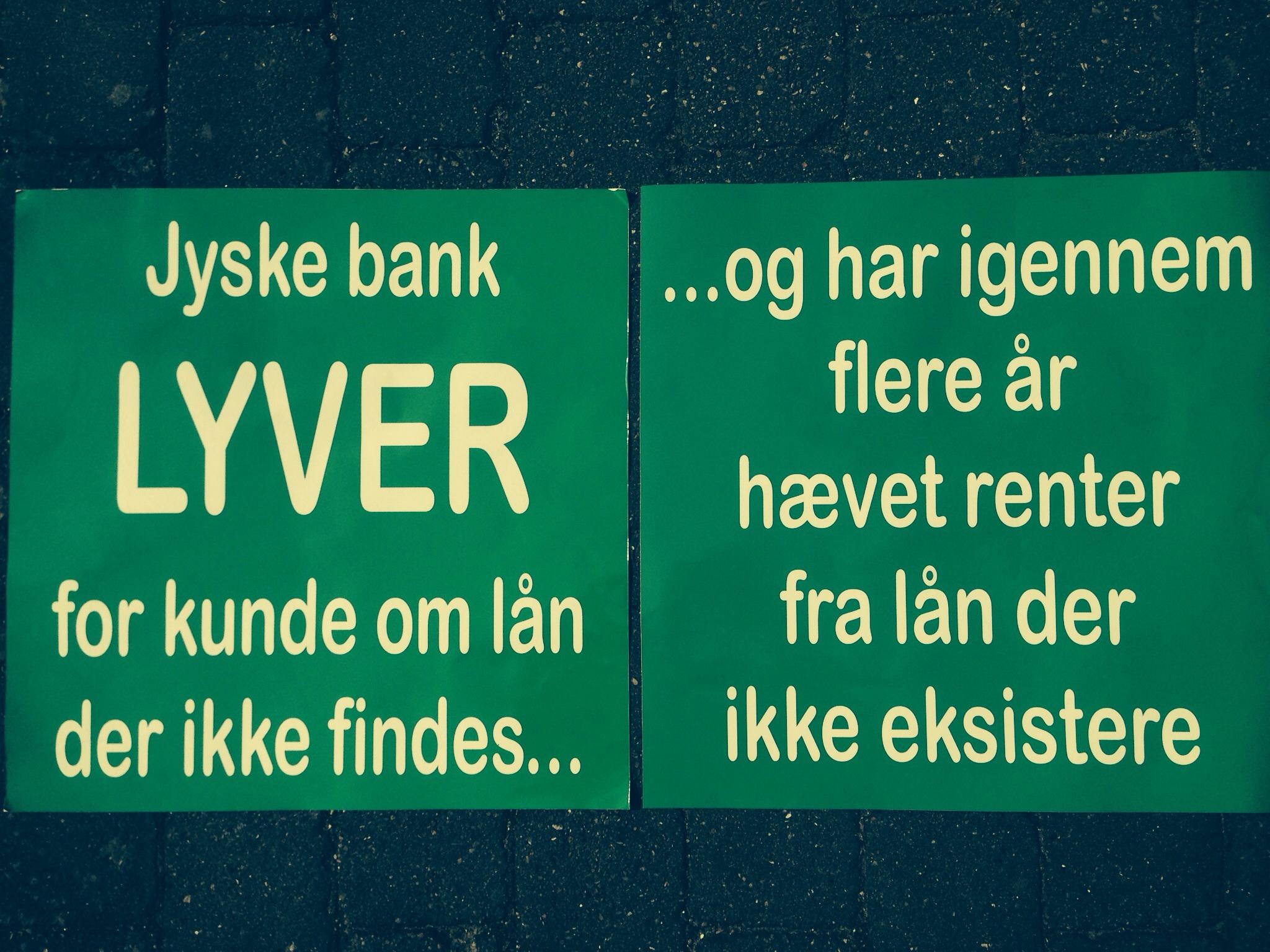 Financial help for lawyer search In the case against Danish bank jyske bank for fraud. :-) Indsæt dit bidrag her. Insert your contribution here Reg. 5479 konto nr. 0004563376 IBAN-kontonummer Account DK0854790004563376 ---------------------- See more at www.banknyt.dk Small family struggling against Jyske Bank.