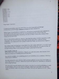 19-09-2018 til koncern ledelsen og juradisk jyske bank Om Koncernledelsens ansvar for jyske banks bedrageri Side 2/4