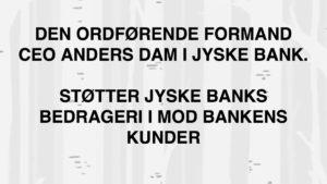 Anders Dam støtter bedrageri, ved ikke at stoppe det
