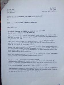 18-05-2018 side 1-4 til CEO Anders Dam jyske bank Læs med her