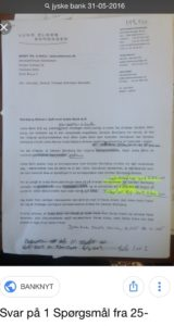 Igen 31 maj og fortsat vildning på kundes anmodning 25 maj, om at få bevist at de har lånt 4.328.000 kr