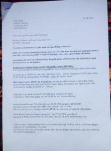 22-08-2018 side 1/3 Til koncern ledelsen og advokaterne i jyske bank Det handler om ansvar Læs brevet her