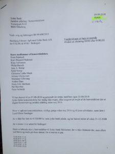 19-09-2018 til koncern ledelsen og juradisk jyske bank Om Koncernledelsens ansvar for jyske banks bedrageri Side 1/4