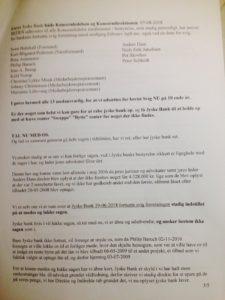 07-08-2018 til Koncernledelsen i jyske bank side 3/5 Om bestyrelses ansvar for bedrageri