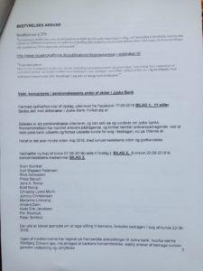 17-09-2018. Brev til ATP SIDE 2/4 ATP kunde beder ATP's advokater Undersøg bedragerisag imod jyske bank Og at ATP sælger deres aktie beholdning i jyske bank straks ATP bliver viden om at jyske bank laver svig / bedrageri