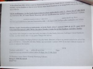 Bilaget som koncern ledelsen jyske bank nægter at underskrive 22-08-2018.