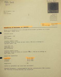 W015776 aftale fra 15-07-2008 Som jyske bank bestyrelses medlem Philip Baruch lyver over retten er lavet og sendt 16-07-2008 Og da Philip bliver klar over vi har bilaget her, ændre advokaten dette til, at bilaget bare er byttet ud, da Philip har udleveret bilaget på Rentebytten af 15-07-2008 Bilag der viser at aftalen er lukket har Philip og jyske bank ikke ville oplyse noget om