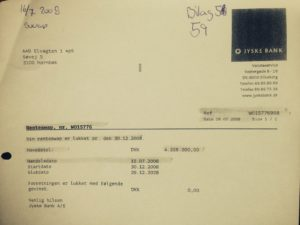 W015776 aftale fra 15-07-2008 lukkes Dette bilag skjulte jysje bank og deres advokater for at kunden ikke mtte opdage at aftalen med kunden fra 15-07-2008 er lukket En aftale der kun skulle igangsttes hvis kunden optager det ln p 4.328.000 kr som Nicolai Hansen 19 februar 2010 pstr optaget i mail