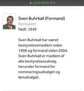 Sven Buhrkall bestyrelsesmedlem formand