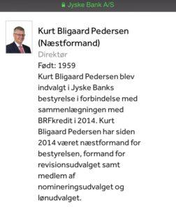 Kurt Bligaard Pedersen næstformand bankdirektør Bestyrelsesmedlem