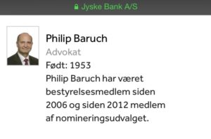 Philip Baruch Advokat bestyrelsesmedlem