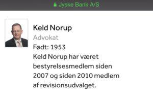 Keld Norup advokat bestyrelsesmedlem
