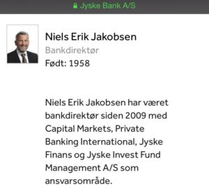 Bankdirektør Niels Erik Jakobsen