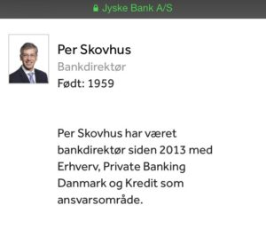 Bankdirektør Per Skovhus