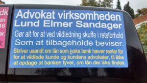 LUND ELMER SANDAGER ADVOKATER HJÆLPER JYSKE BANK MED SVINDEL AF KUNDE KAN FORTSÆTTE