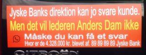 Den er fin, kontakt jyske bank Hvis du ikke tror på at Anders Dam støtter bedrageri mod kunde